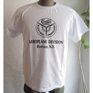 BUZZRICKSON バズリクソン Tシャツ 半袖 メンズ MADE IN USA アメリカ製 ミリタリー プロペラ BUFFALO N.Y.|squeezecoconuts