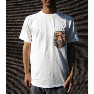 KRIFFMAYER クリフメイヤー Tシャツ ポケT 半袖 ショートスリーブ メンズ カモフラ 迷彩 カモフラ柄 カモフラージュ 白T ミリタリー カジュアル|squeezecoconuts