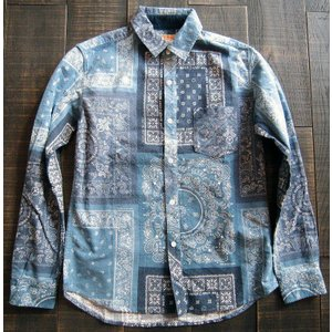 KRIFFMAYER クリフメイヤー ネルシャツ シャツ メンズ バンダナ フランネル 起毛 冬もの アメカジ カジュアル ペイズリー 1538500|squeezecoconuts