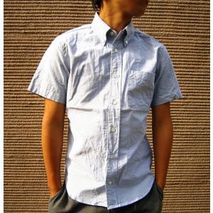 Manual Alphabet マニュアルアルファベット 半袖シャツ メンズ オックスフォード オックス シャツ 無地 ボタンダウンシャツ ネイビー ブルー キレイ目 日本製|squeezecoconuts