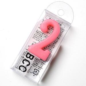 ナンバーキャンドルパステル 2<br>数字キャンドル(ロウソク)BCC|srr-shop