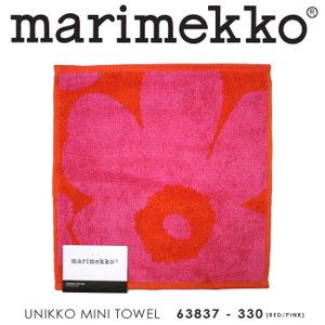 marimekko【マリメッコ】 63837-330『UNIKKO MINI TOWEL』 ウニッコ柄ミニタオル(RED/PINK) 【メール便可】【返品不可商品】 ss-k-mart