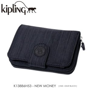Kipling【キプリング】/BASIC PLUS EWO/ K13886H53 『NEW MONEY』(DAZZ BLACK) 二つ折り財布 ss-k-mart