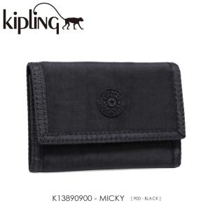 Kipling【キプリング】/BASIC/ K13890900 『MICKY』(BLACK) 三つ折り財布 ss-k-mart