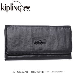 Kipling【キプリング】/BASIC PLUS LM LM/ K1429237R 『BROWNIE』(METALLIC BLACK) 三つ折り長財布 ss-k-mart