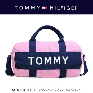 TOMMY HILFIGER【トミーヒルフィガー】 『MINI DUFFLE』6922644-692(PINK CADILLAC) 2WAYミニボストンバッグ【返品不可商品】【ラッピング不可商品】|ss-k-mart