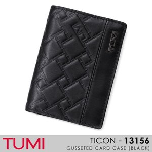 TUMI【トゥミ】/TICON/ 013156(BLACK)『GUSSETED CARD CASE』 レザー名刺入れ|ss-k-mart