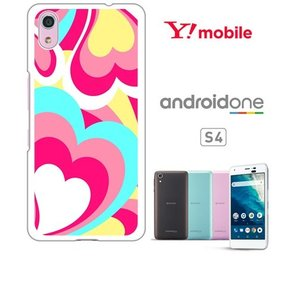 Android One S4/DIGNO J ホワイトハードケース ジャケット プッチ-A 幾何学 カラフル ハート|ss-link