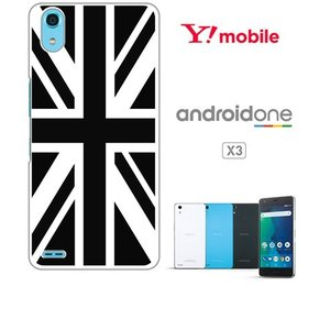 Android One X3 ホワイトハードケース ジャケット 国旗A-02 ss-link