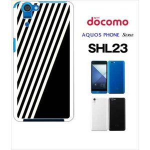 SHL23 AQUOS PHONE SERIE au ハードケース カバー ジャケット ストライプ a002黒-sslink |ss-link