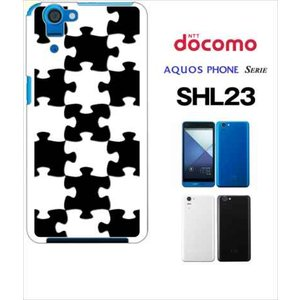 SHL23 AQUOS PHONE SERIE au ハードケース カバー ジャケット パズル チェック a007-sslink|ss-link