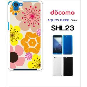 SHL23 AQUOS PHONE SERIE au ハードケース カバー ジャケット 花柄 キャロライン風 マリメッコ風 b003-sslink |ss-link
