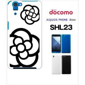 SHL23 AQUOS PHONE SERIE au ハードケース ジャケット カメリア-A 花柄 カメリア|ss-link