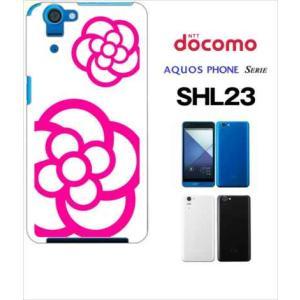 SHL23 AQUOS PHONE SERIE au ハードケース ジャケット カメリア-B 花柄 カメリア|ss-link