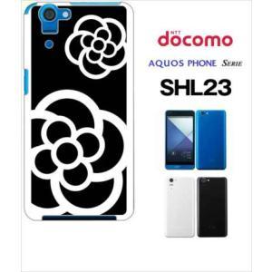 SHL23 AQUOS PHONE SERIE au ハードケース ジャケット カメリア-J 花柄 カメリア|ss-link