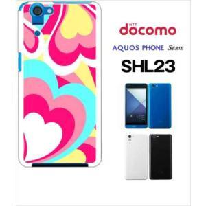 SHL23 AQUOS PHONE SERIE au ハードケース ジャケット プッチ-A 幾何学 カラフル ハート|ss-link