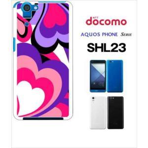 SHL23 AQUOS PHONE SERIE au ハードケース ジャケット プッチ-C 幾何学 カラフル ハート|ss-link