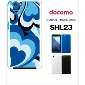 SHL23 AQUOS PHONE SERIE au ハードケース ジャケット プッチ-D 幾何学 カラフル ハート|ss-link