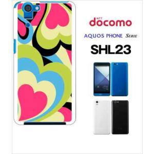 SHL23 AQUOS PHONE SERIE au ハードケース ジャケット プッチ-G 幾何学 カラフル ハート|ss-link