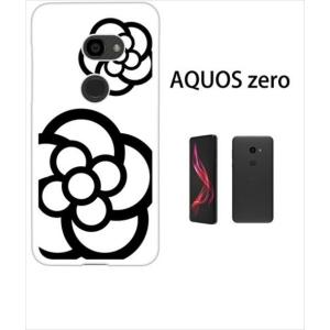 AQUOS zero アクオスゼロ ホワイトハードケース ジャケット カメリア-A 花柄 カメリア|ss-link