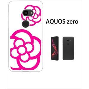 AQUOS zero アクオスゼロ ホワイトハードケース ジャケット カメリア-B 花柄 カメリア|ss-link