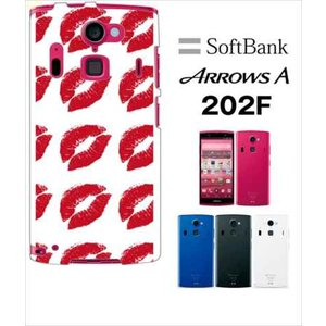 202F Arrows A アローズ softbank ハードケース カバー ジャケット キスマーク 唇 a028-sslink|ss-link