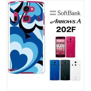 202F Arrows A アローズ softbank ハードケース ジャケット プッチ-D 幾何学 カラフル ハート|ss-link