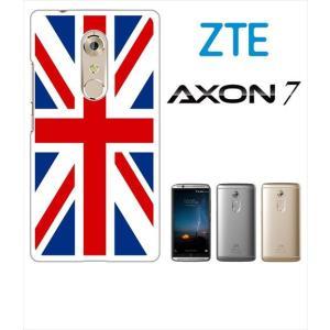 AXON 7 ZTE ホワイトハードケース ジャケット 国旗A-01 ss-link