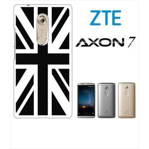 AXON 7 ZTE ホワイトハードケース ジャケット 国旗A-02 ss-link
