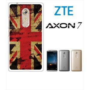 AXON 7 ZTE ホワイトハードケース ジャケット 国旗A-05 ss-link
