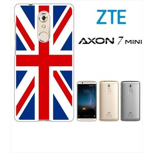 AXON 7 mini ZTE ホワイトハードケース ジャケット 国旗A-01|ss-link