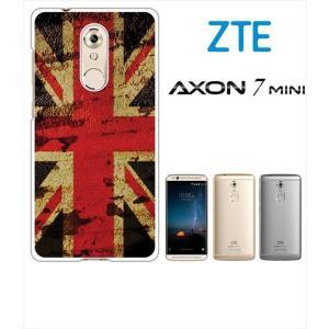 AXON 7 mini ZTE ホワイトハードケース ジャケット 国旗A-05|ss-link
