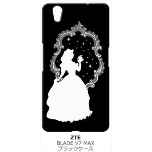 BLADE V7 MAX ZTE ブラック ハードケース 白雪姫 リンゴ キラキラ プリンセス|ss-link