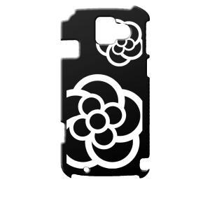F-08E らくらくスマートフォン2 docomo ブラック ハードケース カメリア 花柄 カバー ジャケット スマートフォン|ss-link