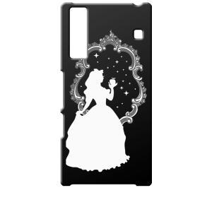 KYV37 Qua phone キュアフォン au ブラック ハードケース 白雪姫 リンゴ キラキラ プリンセス|ss-link