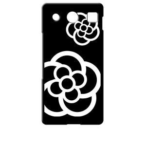 KYV39 miraie f 京セラ au ブラック ハードケース カメリア 花柄|ss-link