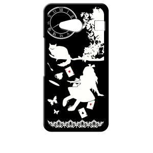 KYV40 rafre/DIGNO W au UQmobile ブラック ハードケース Alice in wonderland アリス 猫 トランプ ss-link