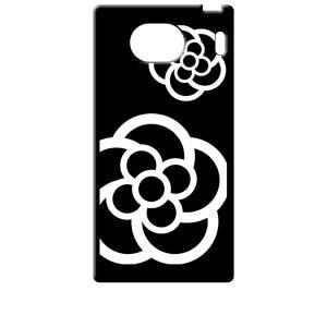 KYV42 Qua phone QX/DIGNO V 京セラ ブラック ハードケース カメリア 花柄|ss-link