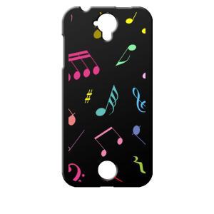 Acer Liquid Z330 楽天モバイル ブラック ハードケース 音符 ト音記号 カラフル|ss-link
