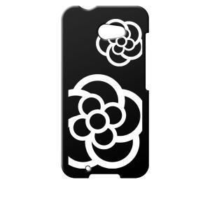 M01 ARROWS アローズ イオンモバイル NifMo 楽天モバイル  ブラック ハードケース カメリア 花柄 カバー ジャケット スマートフォン|ss-link