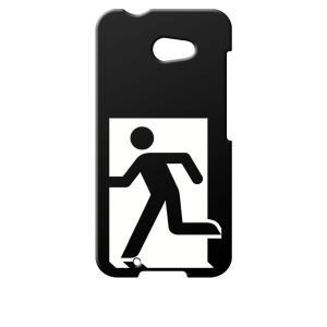 M01 ARROWS アローズ イオンモバイル NifMo 楽天モバイル  ブラック ハードケース 非常口 カバー ジャケット スマートフォン|ss-link