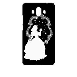 Mate 10 HUAWEI ブラック ハードケース 白雪姫 リンゴ キラキラ プリンセス ss-link