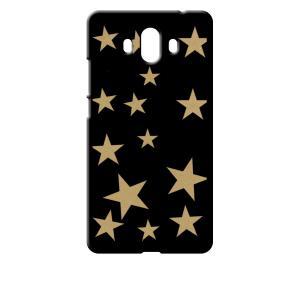 Mate 10 HUAWEI ブラック ハードケース 星 スター ベージュ ss-link