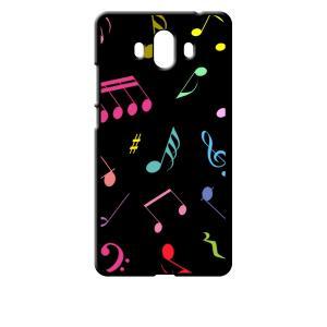 Mate 10 HUAWEI ブラック ハードケース 音符 ト音記号 カラフル ss-link