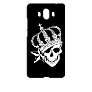 Mate 10 HUAWEI ブラック ハードケース スカル クラウン 王冠 ドクロ 骸骨 星 スター ss-link