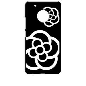 Moto G5 Plus モトローラ ブラック ハードケース カメリア 花柄|ss-link