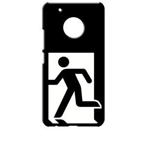 Moto G5 Plus モトローラ ブラック ハードケース 非常口|ss-link