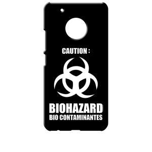 Moto G5 Plus モトローラ ブラック ハードケース バイオハザード BIOHAZARD ロゴ|ss-link