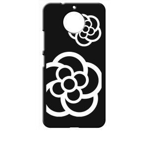 Moto G5s Plus Motorola モトローラ ブラック ハードケース カメリア 花柄|ss-link