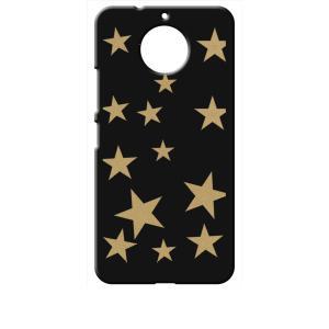 Moto G5s Plus Motorola モトローラ ブラック ハードケース 星 スター ベージュ|ss-link